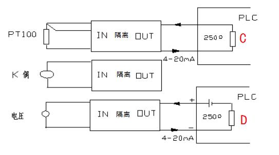 四线制现场仪表有自己的单电源,输出的是有源4~20ma;二线制